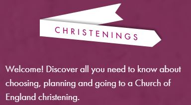 Link to Christenings website