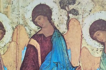 A photograph of part of Rublev's Trinity