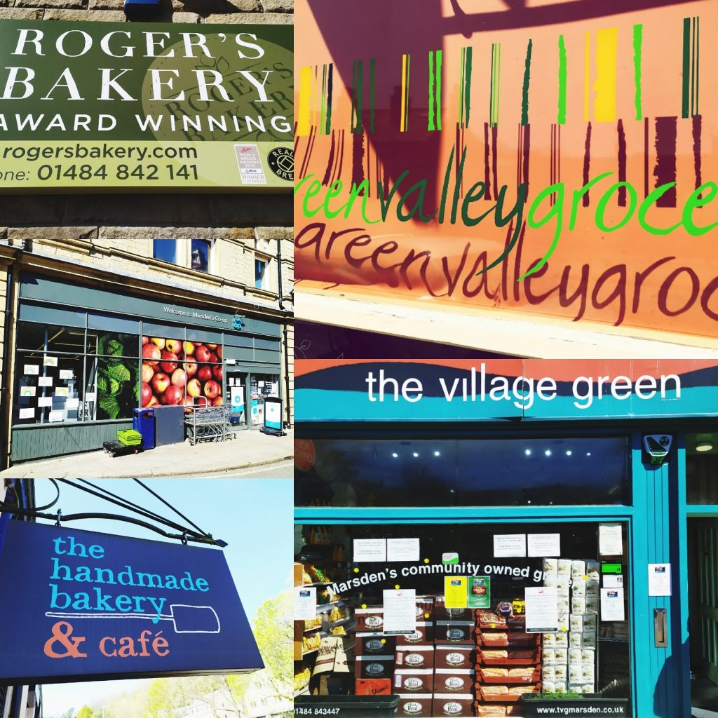 Montage of grocery shops