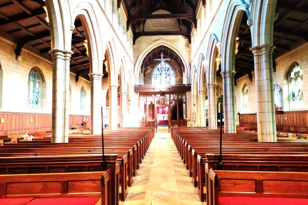 Looking east in St Bartholomew's Church
