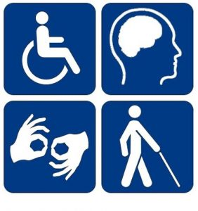 Disability and inclusion logo. This image is licensed under the Creative Commons Attribution-Share Alike 4.0 International license.